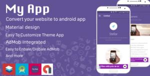 تبدیل وب سایت به اپلیکیشن اندروید با طراحی متریال دیزاین