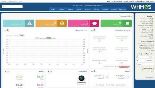 اسکریپت مدیریت هاستینگ و صورت حساب فارسی WHMCS نسخه 7.5.2