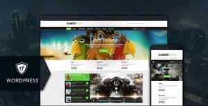 دانلود قالب انیمیشن و بازی برای وردپرس Games Zone v1.0.4