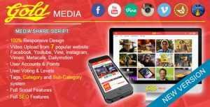 Gold MEDIA v1.8 300x153 - دانلود اسکریپت اشتراک گذاری تصاویر Gold Media نسخه 1.8
