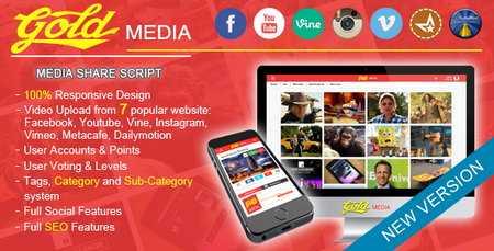 Gold MEDIA v1.8 - دانلود اسکریپت اشتراک گذاری تصاویر Gold Media نسخه 1.8