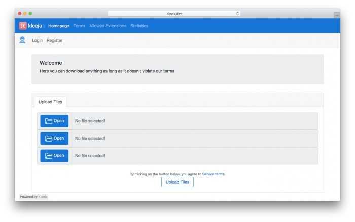 kleeja v3.1.3 8 - دانلود Kleeja 3.1.3 – اسکریپت آپلود سنتر رایگان کلیجا