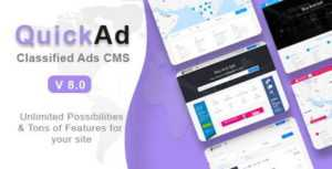 quickad classified ads cms php script 300x153 - اسکریپت پیشرفته نیازمندی ها و ثبت آگهی Quickad