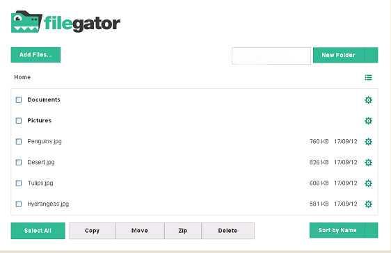 اسکریپت آپلود فایل و مدیریت فولدر FileGator Pro نسخه 7.3.4
