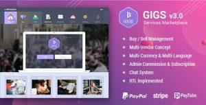 اسکریپت Gigs ایجاد بازار فروش فایل نسخه ۳/۱