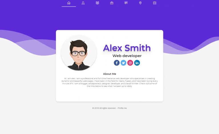 اسکریپت رزومه ساز و پروفایل دهی چند کاربره Profile.me